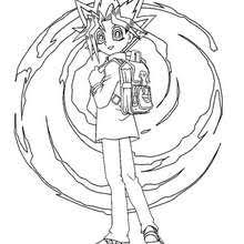 yu gi 3 coloring pages hellokids
