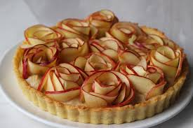 apple rose tart with cinnamon spice creme patisserie flickr