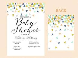 instant editable baby shower invitation coral and mint