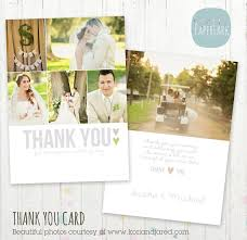 thank you cards wedding wedding thank you card photoshop template by paperlarkdesigns
