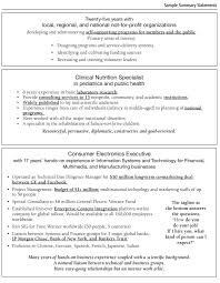 free samples of resume examples of resume summary statements