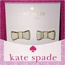 rhodium earrings sensitive ears kate spade white bow earrings for musikid5 bow earrings