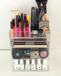 hair and makeup organizer hair and makeup storage clear acrylic makeup organizer 3 drawer by