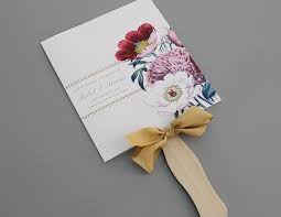 wedding fan programs diy creative wedding ceremony program diy templates