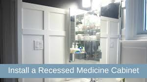 diy recessed medicine cabinet how to install a recessed medicine cabinet home design ideas