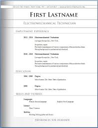 what is the format for a resume jospar