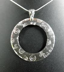 metal circle necklace images Spiral studio hand crafted jewelry and art glass creations jpg