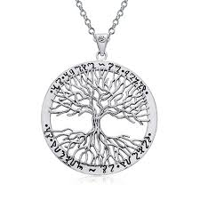 wiccan tree of 925 sterling silver pendant