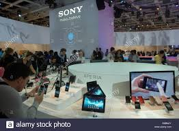 the sony booth at consumer electronics and home appliances trade