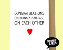 Funny Wedding Wishes Cards Funny Wedding Card Alternative Wedding Card Enjoy Your