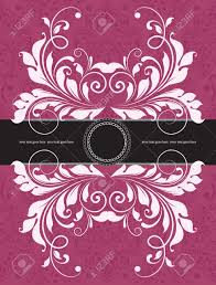 Invitation Cards Design With Ribbons Vintage Invitation Card With Ornate Elegant Abstract Floral Design