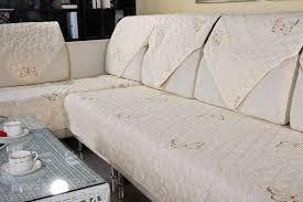 Cotton Sofa Slipcovers by Cotton Quilted Embroidered Sofa Cushion Couch Slipcovers Backrest