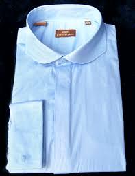 modena white w brown vertical stripes cutaway collar french cuff