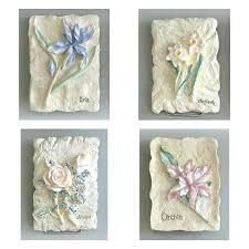 shabby chic flower plaque 3d flower wall decor 1 flower wall