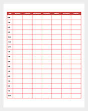 schedule template u2013 376 free sample example format download