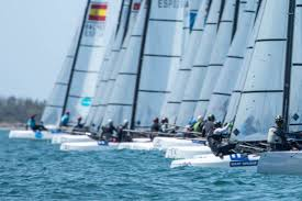 danes lead into the sharp end of the nacra 17 world championships