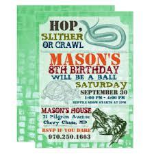 reptile birthday invitations u0026 announcements zazzle