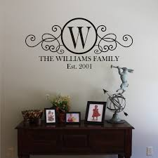 monogram wall decals for nursery family monogram wall decal decorating ideas pinterest