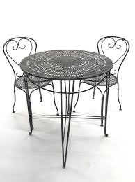Large Bistro Table French Bistro Table And Chairs From Blacktulip On Ruby Lane