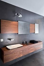 Modern Bathroom Minimalist Design Gray Wall Color Wall Mounted - Bathroom minimalist design