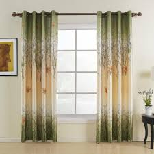 Lined Curtains Amazon Com Twopages U0026reg Green Maple Leaf Lined Curtains One