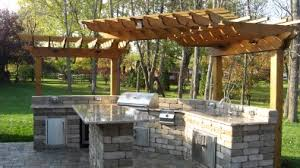 Home Depot Pergola by Pergola Over Outdoor Kitchen Char Broil Grill Covers