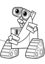 wall robot coloring pages place color