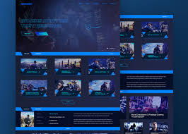 game landing page html template