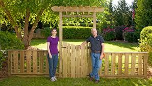garden arch trellis with gate decor inspiration interior ideas