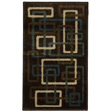 Rv Rugs Walmart by Mainstays Interlaced Woven Olefin Square Rug Brown Walmart Com