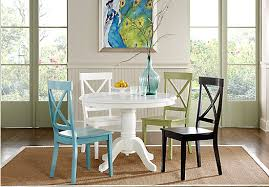 rooms to go dining sets shop for a brynwood white 5 pc pedestal dining room at rooms to go