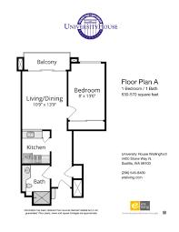 floor plans features university house wallingford seattle wa one bedroom options