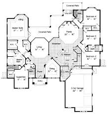 large single story house plans house plans single story with pool adhome