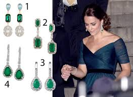 kate middleton diamond earrings copy kate middleton s diamond and emerald earrings from