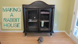 Tv Armoire How To Make A Rabbit House From A Tv Armoire Cabinet Youtube