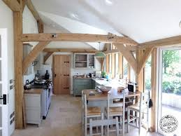 chestnut glulam extension in cornwall carpenter oak