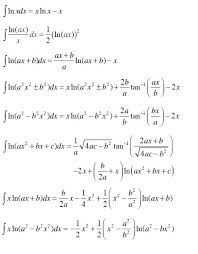 Gaussian Integral Table How To Take The Integral Of Natural Log