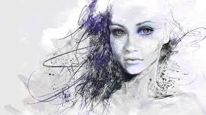 woman face drawing hd wallpaper asian face photoshop