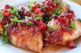glazed cranberry chicken thigh recipe free delicious italian