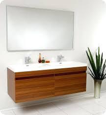 modern sinks and vanities modern sink cabinet largo teak modern bathroom vanity w wavy double