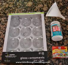 how to make glass fishing floats using clear ornaments