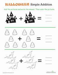 halloween math simple addition 1 worksheet education com