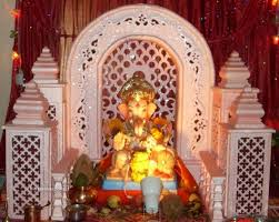 Home Temple Decoration Ideas Pin By Shrikant On Home Ganpati Decorations Pinterest Ganesh