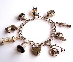 metal bracelet charms images 141 best vintage charm bracelets images charm jpg