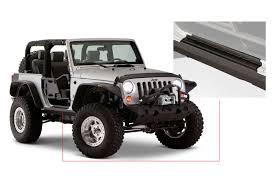 white jeep wrangler 2 door bushwacker jeep wrangler sport utility 2007 2017 trail armor