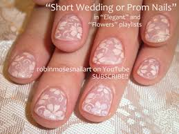 easy nail art for beginners diy white flowers for short nails