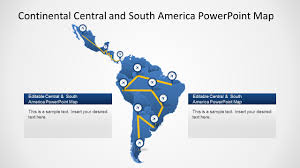 Blank Map Of Central And South America by Continental Latin America Powerpoint Map Slidemodel