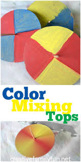 science art color mixing tops steam activities simple colors