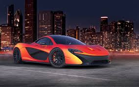Image Mclaren P1 Orange Cars Skyscrapers Cities
