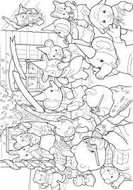print sylvanian families kleurplaat coloring kids pinterest